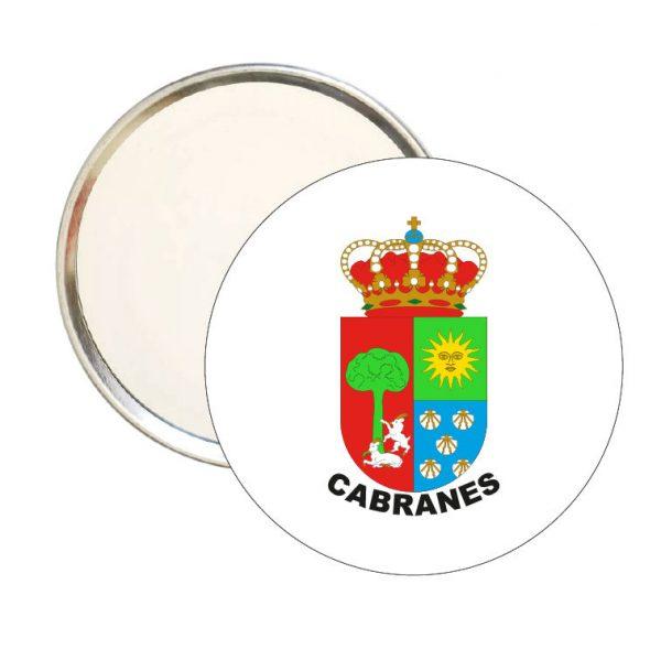 espejo redondo escudo heraldico cabranes
