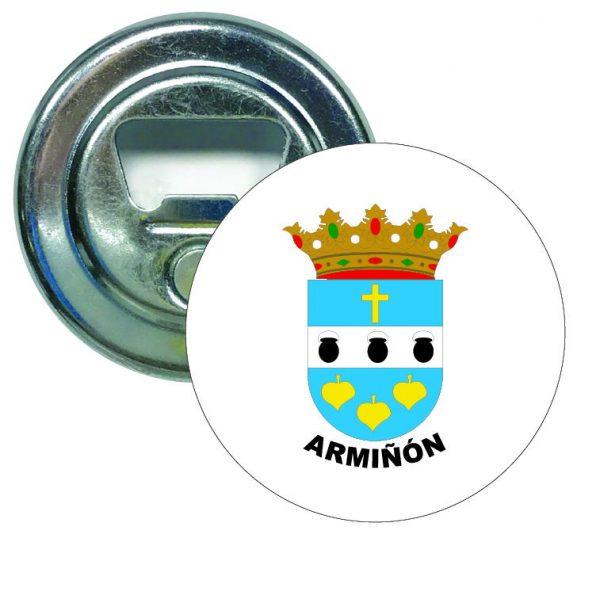 abridor redondo escudo heraldico arminon
