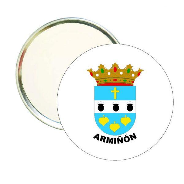 espejo redondo escudo heraldico arminon