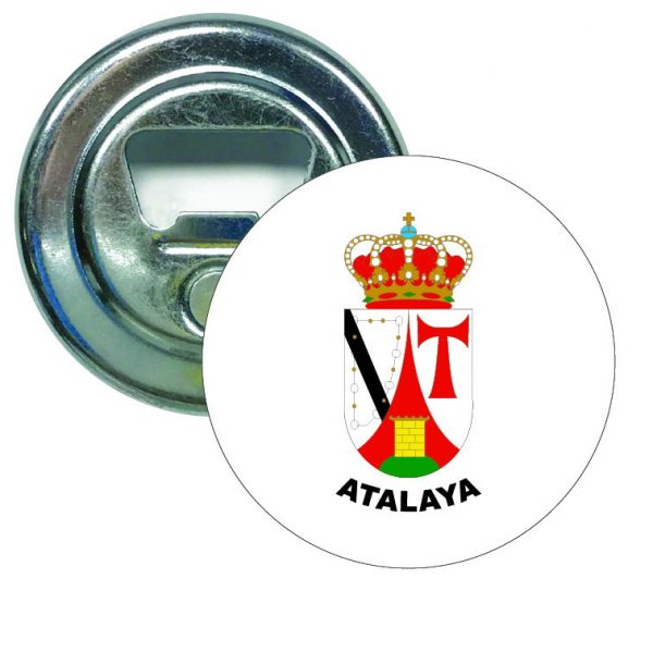 abridor redondo escudo heraldico atalaya