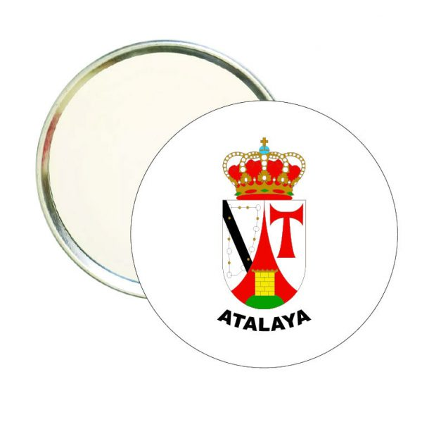 espejo redondo escudo heraldico atalaya