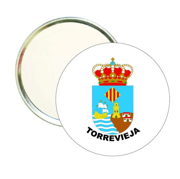 espejo redondo escudo heraldico torrevieja