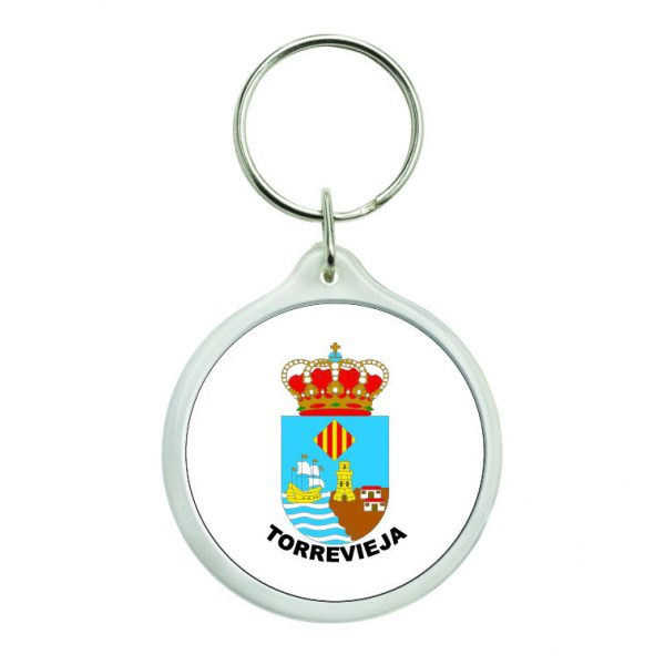 llavero redondo escudo heraldico torrevieja
