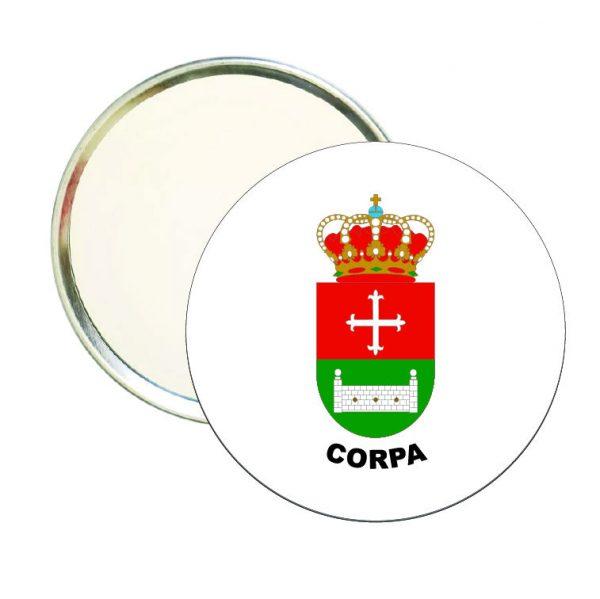 espejo redondo escudo heraldico corpa