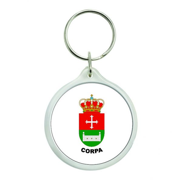 llavero redondo escudo heraldico corpa
