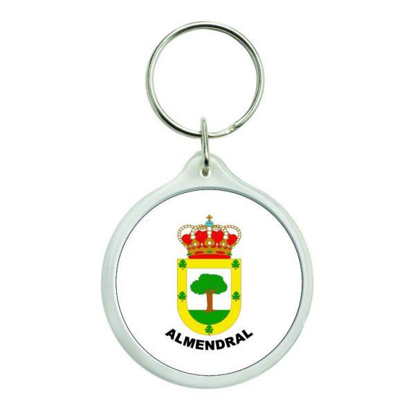 llavero redondo escudo heraldico almendral