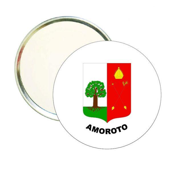 espejo redondo escudo heraldico amoroto