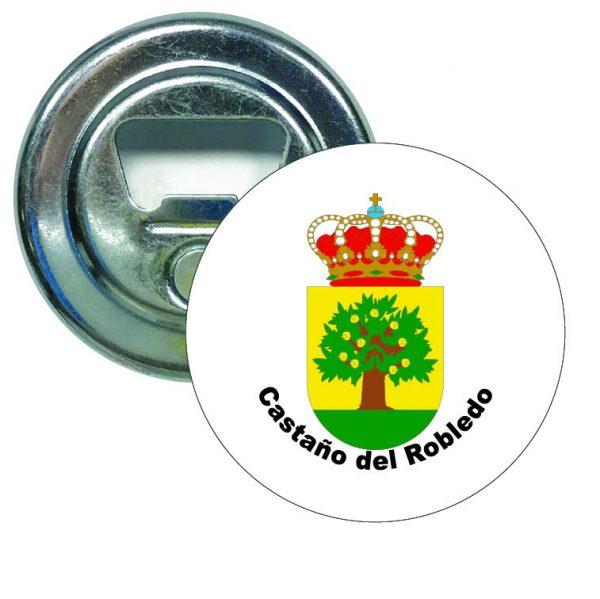 abridor redondo escudo heraldico castano del robledo