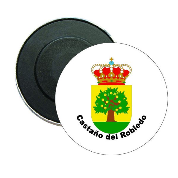 iman redondo escudo heraldico castano del robledo
