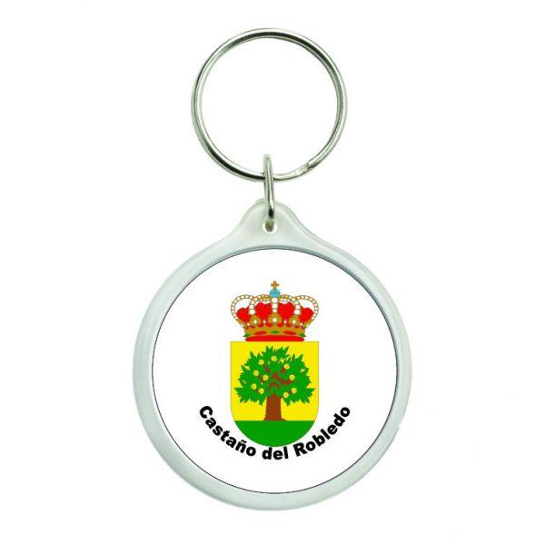 llavero redondo escudo heraldico castano del robledo