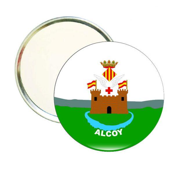 espejo redondo escudo heraldico alcoy