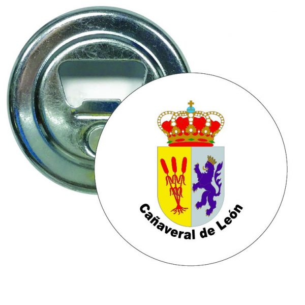 abridor redondo escudo heraldico canaveral de leon