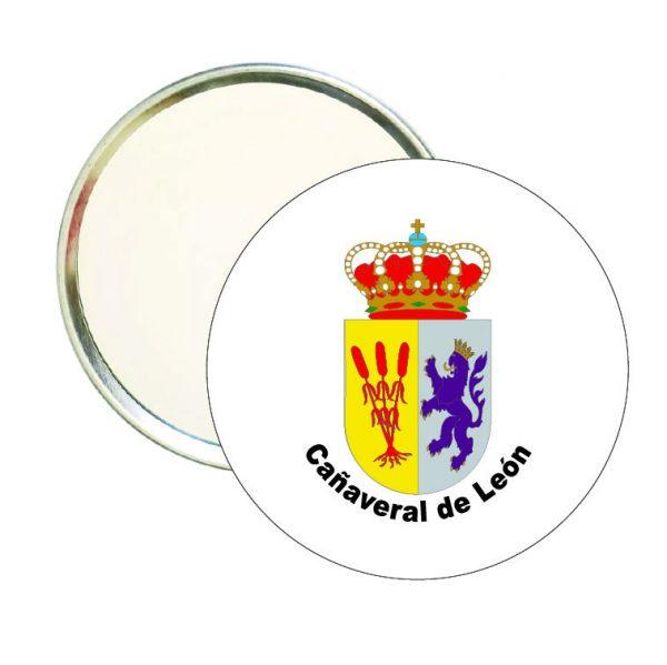 espejo redondo escudo heraldico canaveral de leon