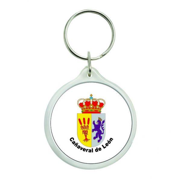 llavero redondo escudo heraldico canaveral de leon