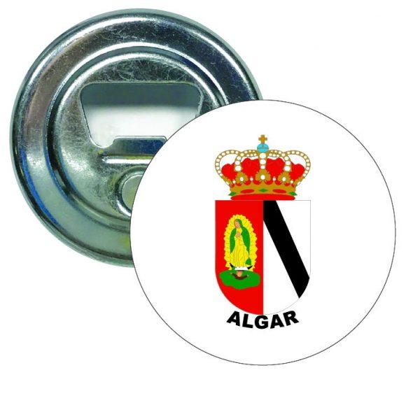 abridor redondo escudo heraldico algar