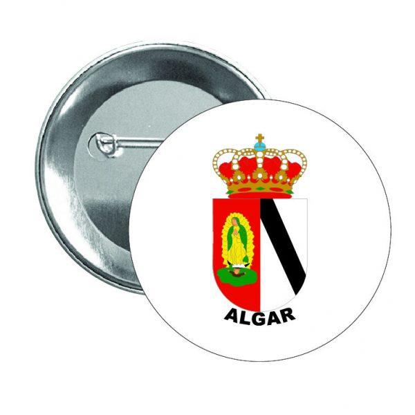 chapa escudo heraldico algar