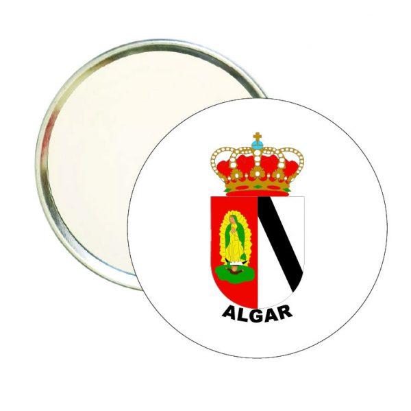 espejo redondo escudo heraldico algar