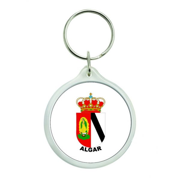 llavero redondo escudo heraldico algar