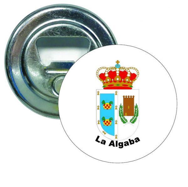 abridor redondo escudo heraldico la algaba