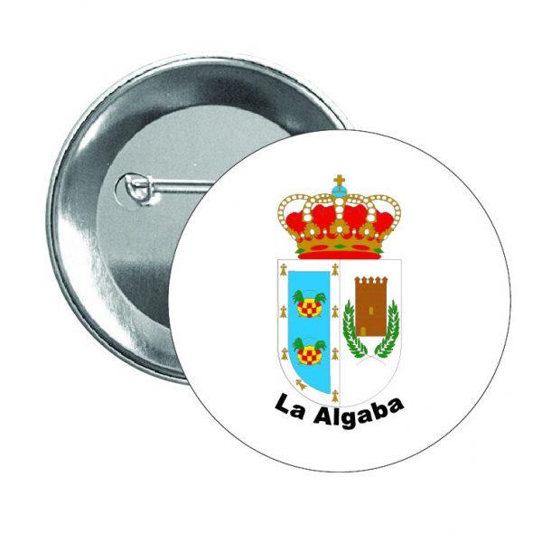 chapa escudo heraldico la algaba