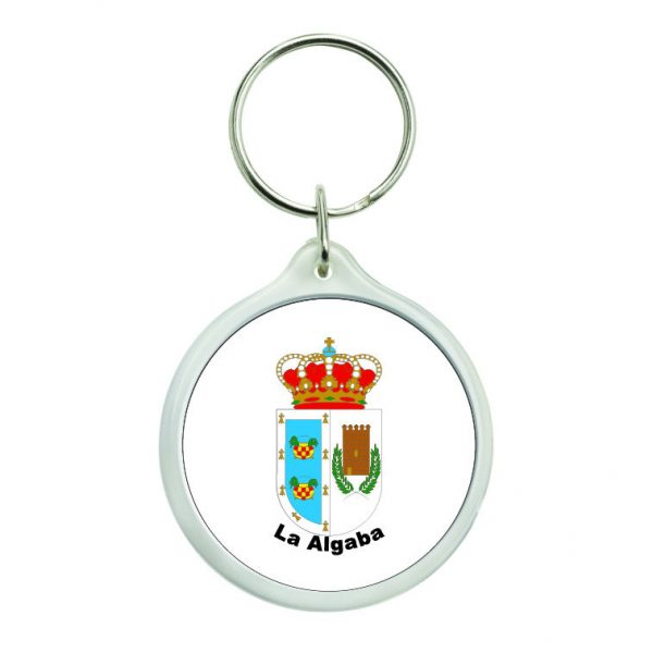 llavero redondo escudo heraldico la algaba