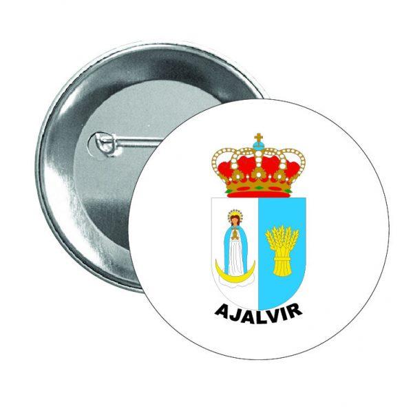 chapa escudo heraldico ajalvir
