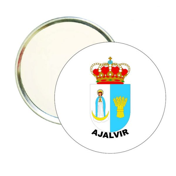 espejo redondo escudo heraldico ajalvir