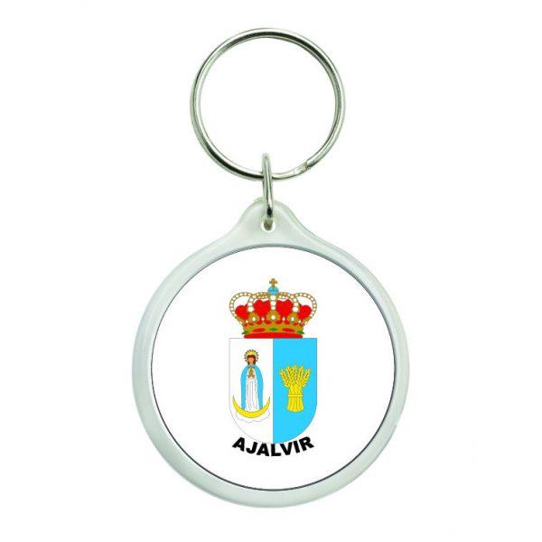 llavero redondo escudo heraldico ajalvir