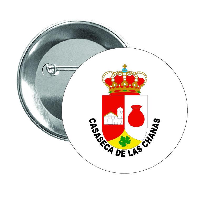 chapa escudo heraldico casaseca de las chanas