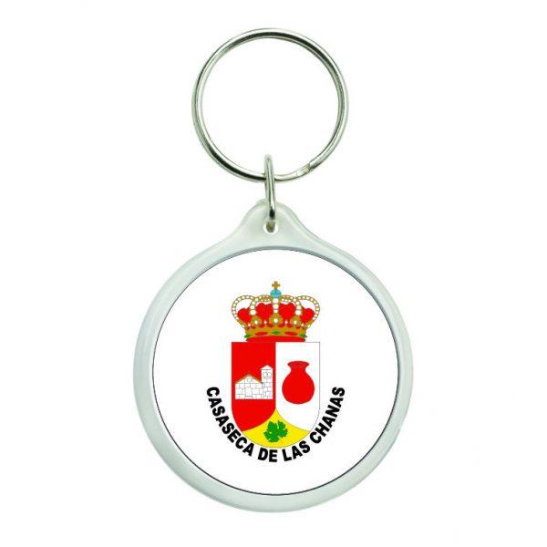 llavero redondo escudo heraldico casaseca de las chanas