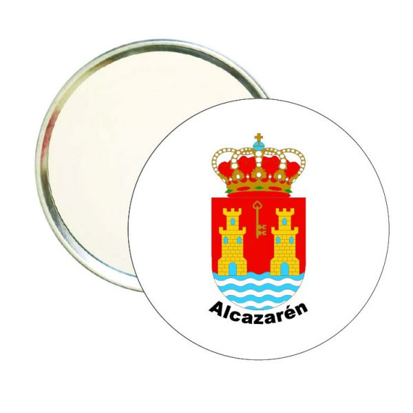 espejo redondo escudo heraldico alcazaren