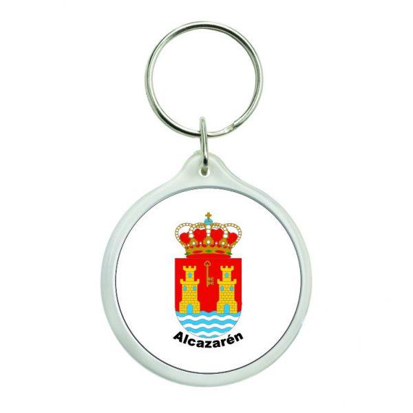 llavero redondo escudo heraldico alcazaren