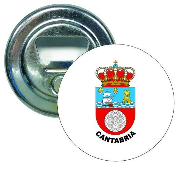 abridor redondo escudo heraldico cantabria