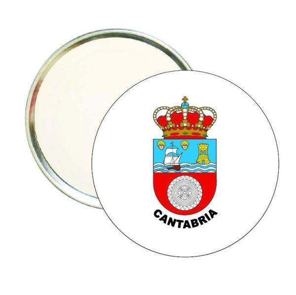 espejo redondo escudo heraldico cantabria