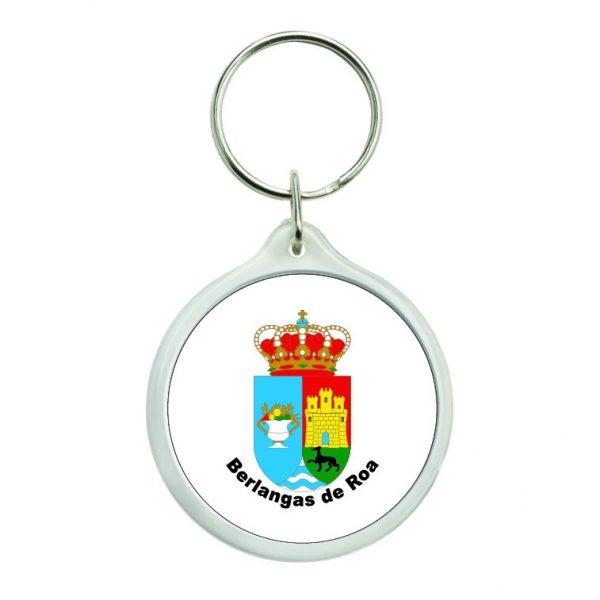 llavero redondo escudo heraldico berlangas de roa