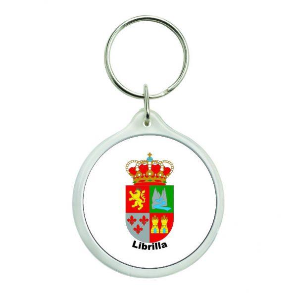 llavero redondo escudo heraldico librilla