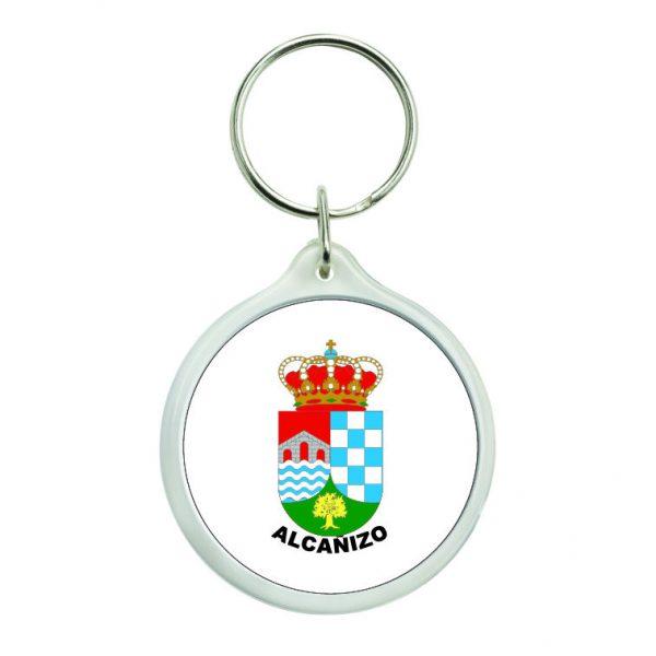 llavero redondo escudo heraldico alcanizo