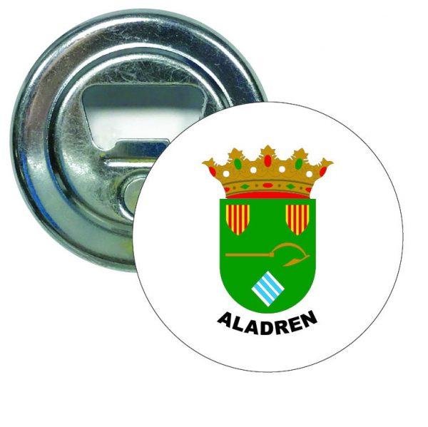 abridor redondo escudo heraldico aladren