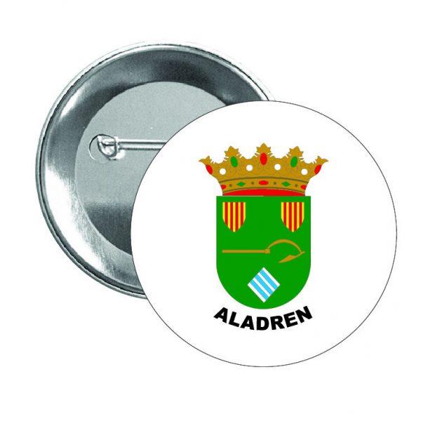 chapa escudo heraldico aladren