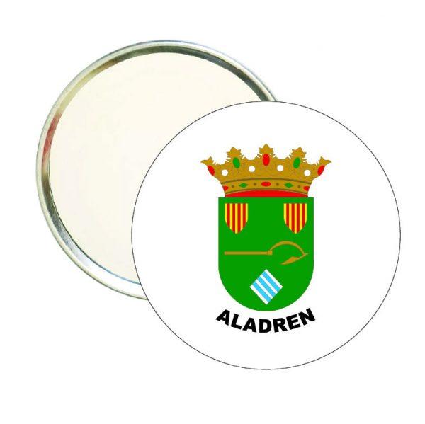 espejo redondo escudo heraldico aladren