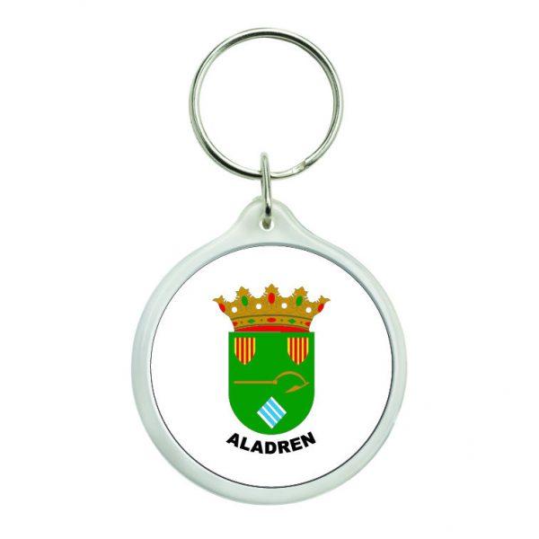 llavero redondo escudo heraldico aladren