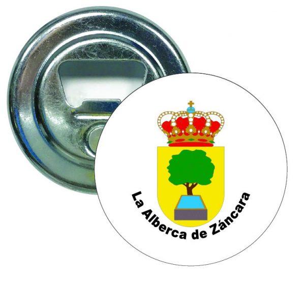 abridor redondo escudo heraldico la alberca de zancara
