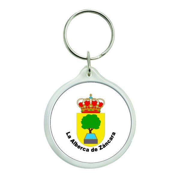 llavero redondo escudo heraldico la alberca de zancara