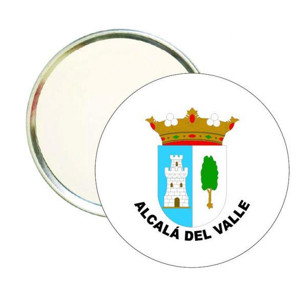 espejo redondo escudo heraldico alcala del valle