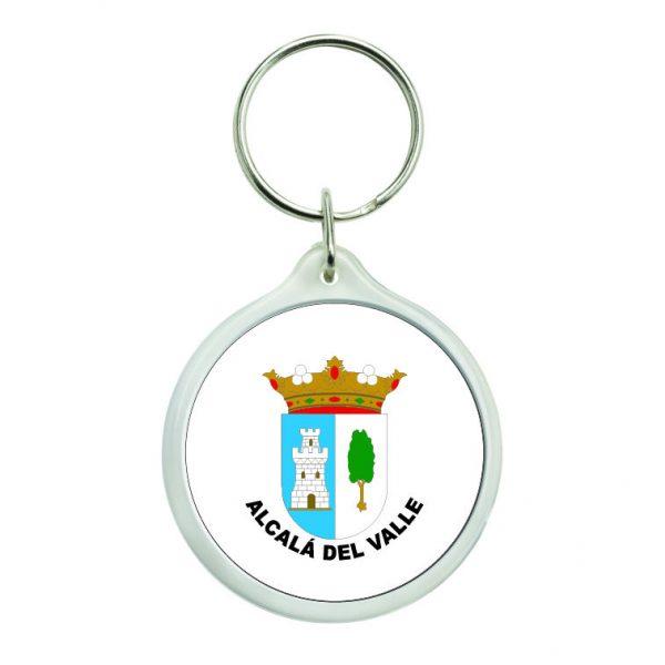 llavero redondo escudo heraldico alcala del valle