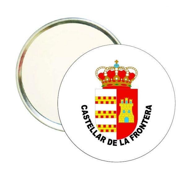 espejo redondo escudo heraldico castellar de la frontera