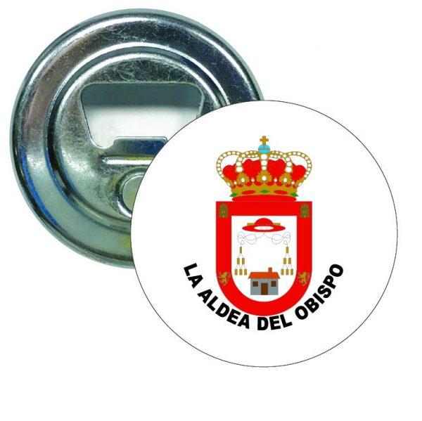 abridor redondo escudo heraldico la aldea del obispo