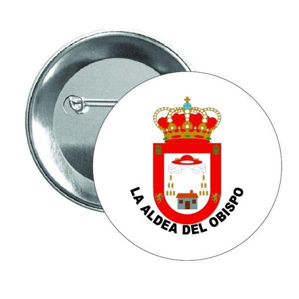 chapa escudo heraldico la aldea del obispo