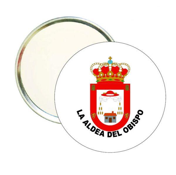 espejo redondo escudo heraldico la aldea del obispo