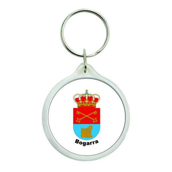 llavero redondo escudo heraldico bogarra